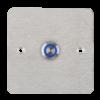LED-es mikrokapcsolós nyomógomb pajzzsal - NO - kék - cseppálló (IP65) PBK-C-16-NO(LED)-bl