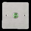 LED-es mikrokapcsolós nyomógomb pajzzsal - NONC - piros-zöld - cseppálló (IP65) PBK-C-16-NONC(LED)-rdgn