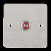LED-es mikrokapcsolós nyomógomb pajzzsal - NO - piros - cseppálló (IP65) PBK-C-16-NO(LED)-rd