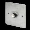 LED-es mikrokapcsolós nyomógomb pajzzsal - NO -fekete- piros-zöld - cseppálló (IP65) PBK-C-19-NO-bk(LED)-rdgn