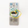 Mikrokapcsolós nyomógomb 90x35 INOX pajzzsal - NO/NC PBK-810A