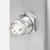 LED-es mikrokapcsolós nyomógomb pajzzsal - NO - zöld - cseppálló (IP65) PBK-B-16-NO(LED)-gn