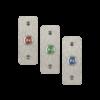 LED-es mikrokapcsolós nyomógomb pajzzsal - NO - piros - cseppálló (IP65) PBK-B-16-NO(LED)-rd