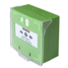 Falon kívüli szerelésű, benyomható vésznyitó, zöld SCP-100G