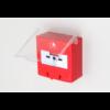 Kézi jelzésadó tűz esetére. Visszaállítható piros színű műanyag házban SCP-100R