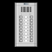 Vízálló kültéri, 16 lakásos kaputelefon hívóegység G-WL-02NE 2x8