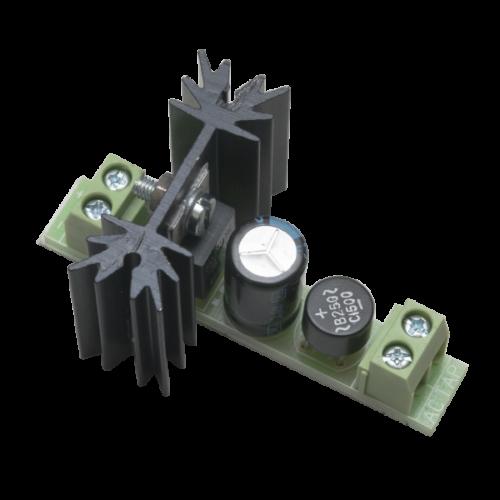 Stabilizált kimenetű hűtőbordás egyenirányító PCB-505C