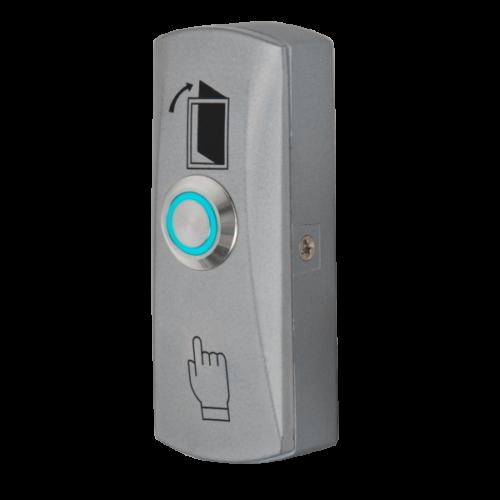 Nyomógomb, csak záró kontaktus kék LED-es nyomógombbal PBK-815(LED)-bl