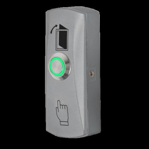 Nyomógomb, csak záró kontaktus zöld LED-es nyomógombbal PBK-815(LED)-gn