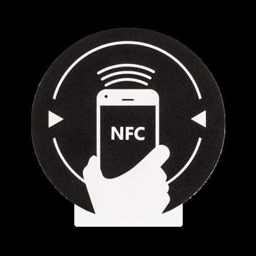 NFC matrica NXP MIFARE NTAG213 újraírható chippel NFC-3013-bk