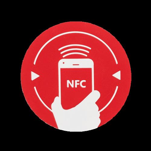 NFC matrica NXP MIFARE NTAG213 újraírható chippel NFC-3013-rd