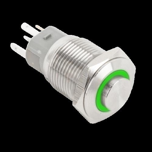Nyomógomb piros-zöld LED világítással PB-16-NONC-rdgn