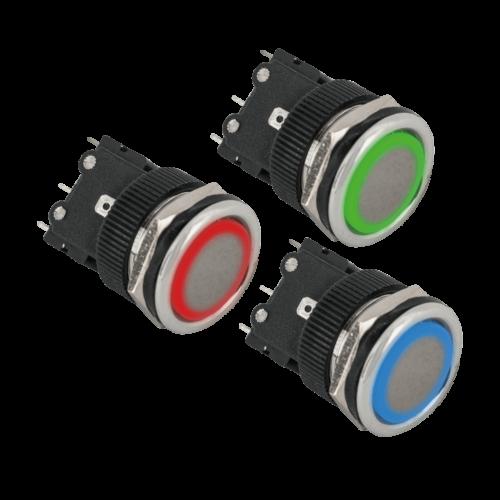 Süllyesztetten szerelhető nyomógomb PBK-810A(LED)-gn