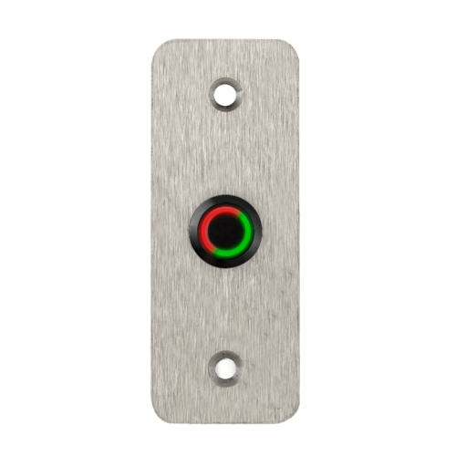 LED-es mikrokapcsolós nyomógomb pajzzsal - NO -fekete- piros-zöld - cseppálló (IP65) PBK-B-16-NO-bk(LED)-rdgn