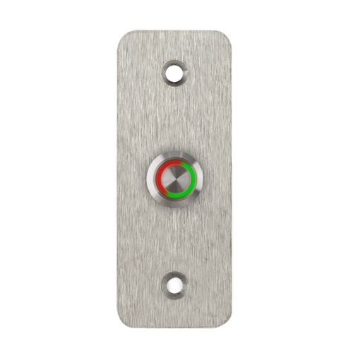 LED-es mikrokapcsolós nyomógomb pajzzsal - NONC - piros-zöld - cseppálló (IP65) PBK-B-16-NONC(LED)-rdgn