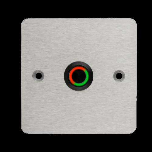 LED-es mikrokapcsolós nyomógomb pajzzsal - NO -fekete- piros-zöld - cseppálló (IP65) PBK-C-16-NO-bk(LED)-rdgn