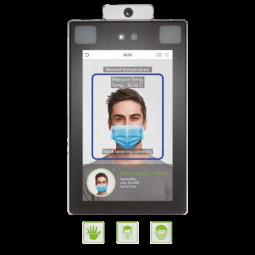 Maszkérzékelős arc és tenyérfelismerős testhőmérséklet érzékelő Proface-X-TD