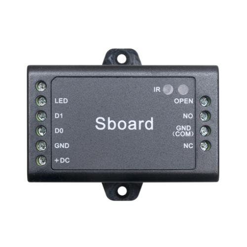 Egy ajtós vezérlő panel Wiegand típusú olvasókhoz S-Board
