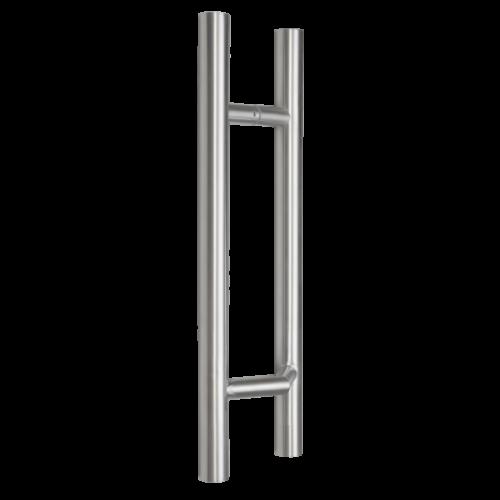 INOX acél fogantyú 50cm hosszú vékony keretes ajtókra döntve szerelhető YH-500V-32